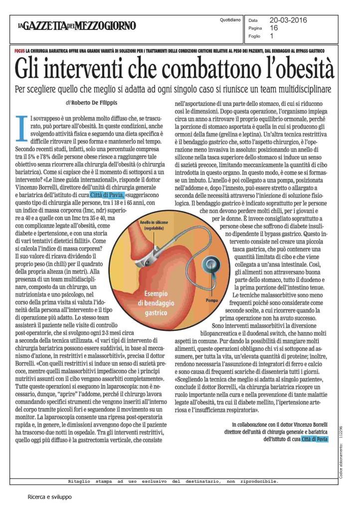 La Gazzetta del Mezzogiorno - 20 03 16