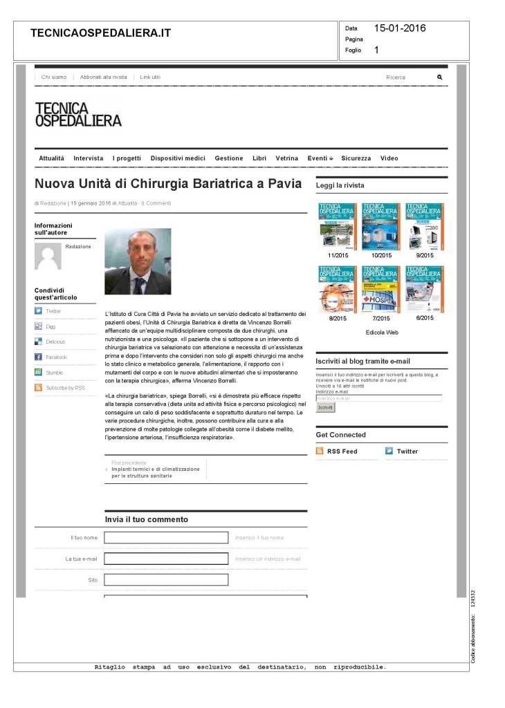 www.tecnicaospedaliera.it - 15 01 16